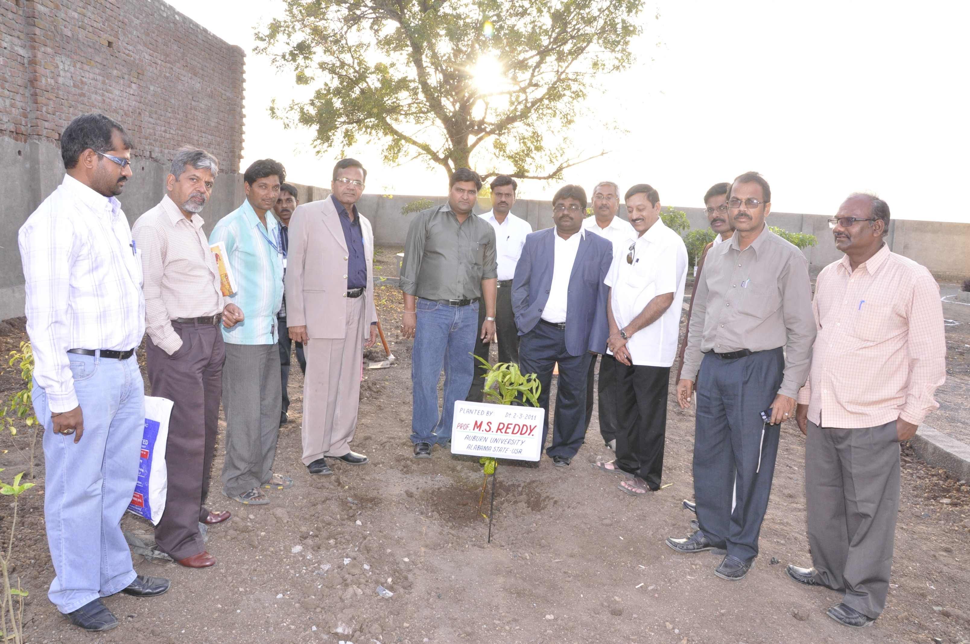 Plantation by Dr.M.S.Reddy at VBTL Factory with Team